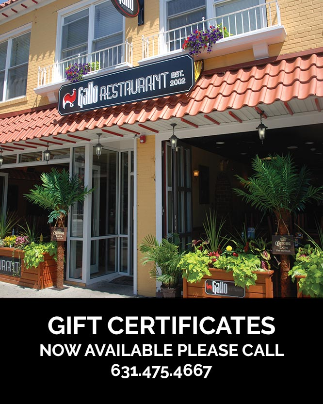 Gallo Gift Certificates